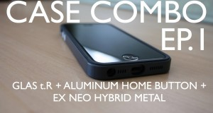 Case-Combo-EP.1-GLAS-t.R-Aluminum-Home-Button-Neo-Hybrid-EX-Slate-for-Black-iPhone-5