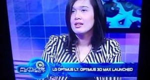 FAITH-CARPIO-MIJARES-Interview-in-ANC-Channel-for-Promoting-LG-new-Cellphone-products