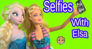 Cell Phone Selfies with Queen Elsa from Disney Frozen – Barbie Doll Playset Play Video Cookieswirlc