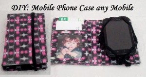 DIY How to make a Mobile Phone Wallet/Case (any cell phone)