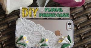 Floral Cell Phone Case ♥ DIY