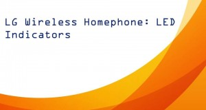 LG Wireless Home Phone: LED Indicators