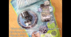 Quick Attach microscope toy review for cell phones #toy #phone