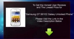 When Samsung GT-S6102 Galaxy Y DUOS Unlocked Dual SIM Phone  you would like