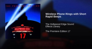Wireless Phone Rings with Short Rapid Beeps